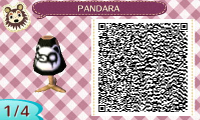Animal Crossing New Leaf - PANDARA shirt QR 1/4