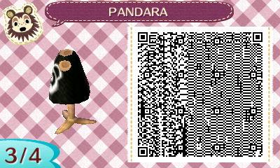 Animal Crossing New Leaf - PANDARA shirt QR 3/4