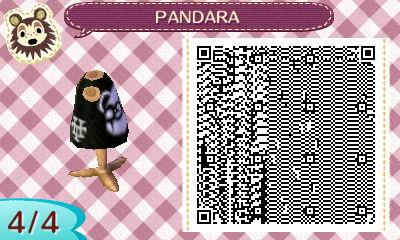 Animal Crossing New Leaf - PANDARA shirt QR 4/4